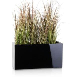 Pflanztrog VISIO 30 Fiberglas schwarz hochglanz