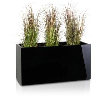 Pflanztrog VISIO 50 Fiberglas schwarz hochglanz
