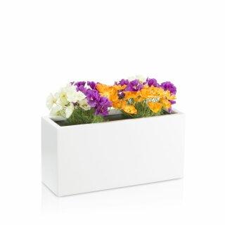 Pflanztrog VISIO 30 Fiberglas weiß matt