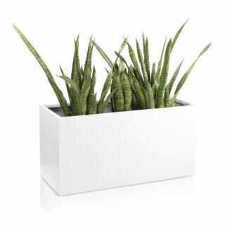 Pflanztrog VISIO 50 Fiberglas weiß matt